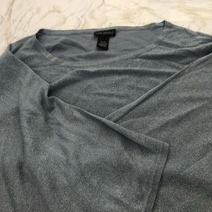 Lane Bryant blue business casual plus size top